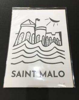 Affiche-de-Saint-Malo-Les-Remparts-trait